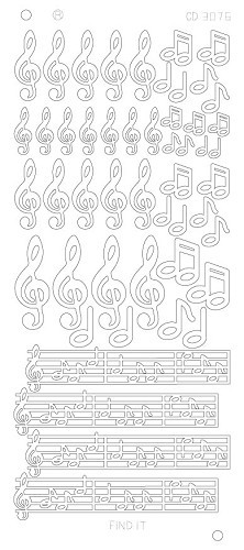 Music notes goud