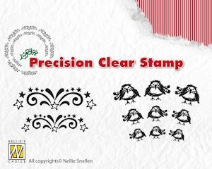 Precision Clearstamp starbust Robin