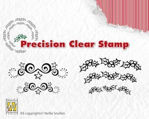 Precision Clearstamp Starswirls-Holly