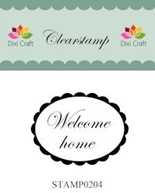 Clearstamp Welcome home