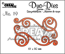 Crealies Duo Die no. 20 Swirls 1