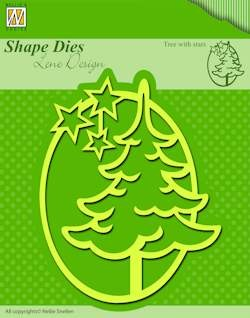 Shape dies christmas tree with stars