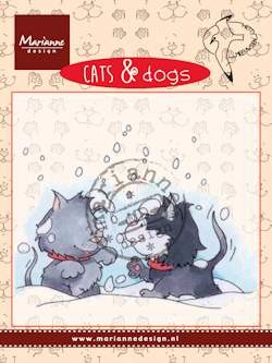 Clear stamp cats & dogs snow fight