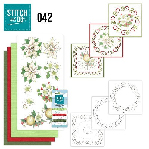 Stitch and Do 42: White Christmas flowers