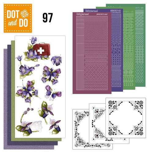Dot & DO 097: Purple Flowers