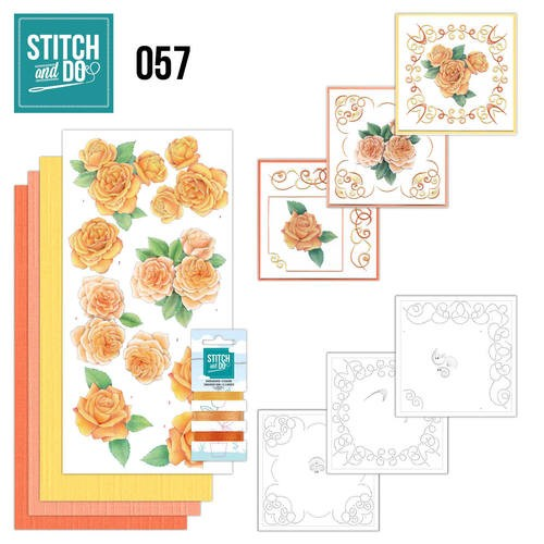 Stitch and Do 57: Oranje Rozen
