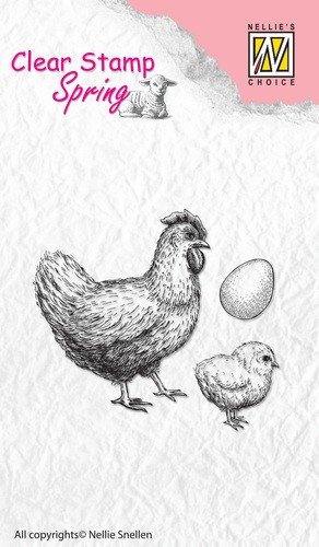 Hen, chicken and egg