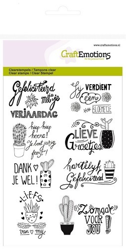 CraftEmotions clearstamps A6 - cactus hand lettering