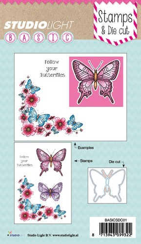 Studio Light Stamp & Die - follow your butterflies (EN)