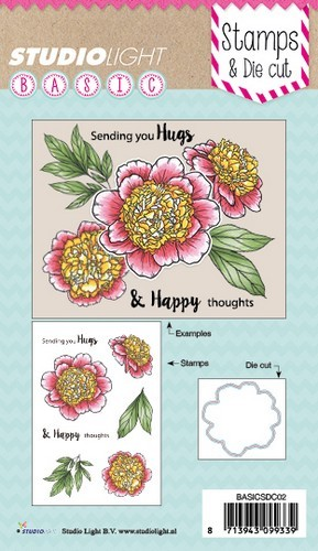 Studio Light Stamp & Die - sending your hugs (EN)