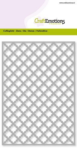 CraftEmotions Die - Cutting Grid - ruit scallop Card 10,5x14,8cm