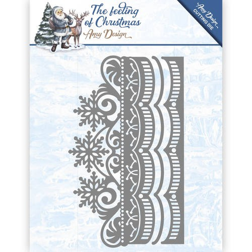 The feeling of Christmas Ice crystal border