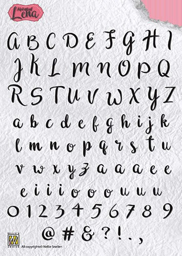 Clearstamp Alphabet Lena