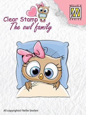 Clearstamp the owl Family: Get well Soon