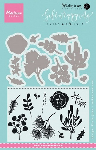 Clear stamp giftwrapping -twigs & twine