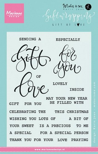 Clear stamp giftwrapping - gift of love