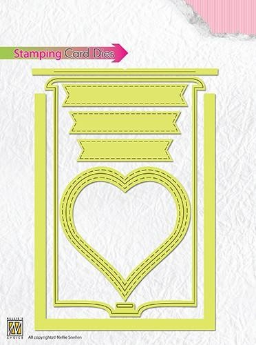 Nellies Choice Stamping Card Die hart STCD001
