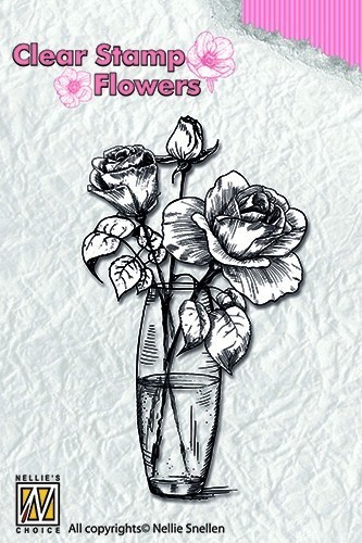 Clearstamp flowers: Roses