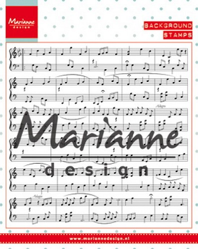 Clearstamp music notes