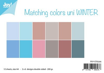Joy Papierset Matching colours uni-Winter