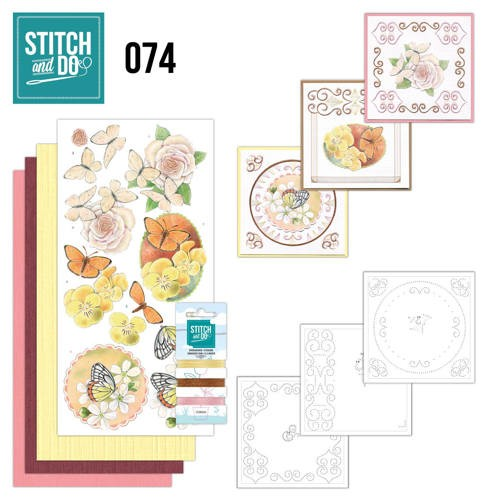 Stitch and do 074: Vlinders en bloemen