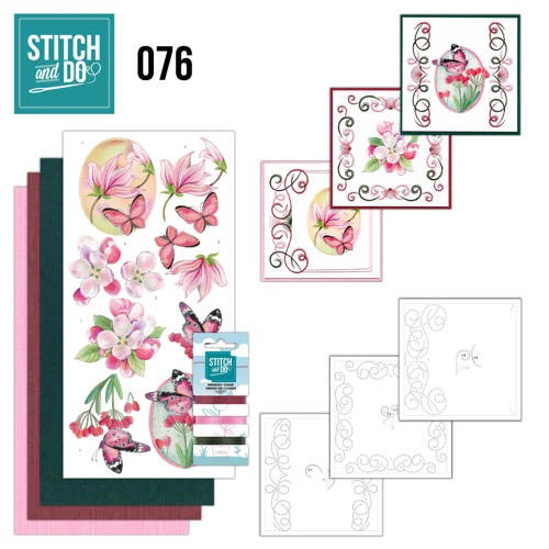Stitch and Do 76: Roze bloemen