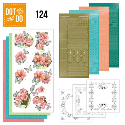 Dot & Do 124: Pink Flowers and Butterflies