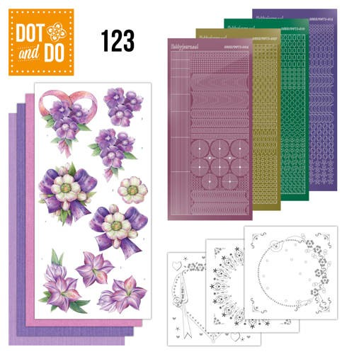 Dot & Do 123: purple Flowers