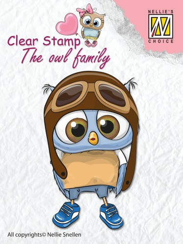 Clear stamp The Owl family: Pilot
