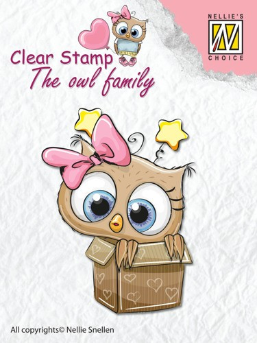 Clear stamp The Owl family: In the box