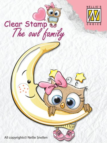 Clear stamp The Owl family: Moon
