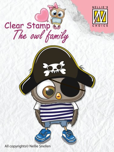 Clear stamp The Owl family: Pirate