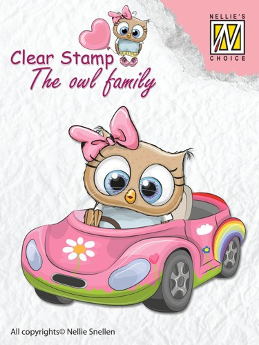 Clear stamp The Owl family: Car