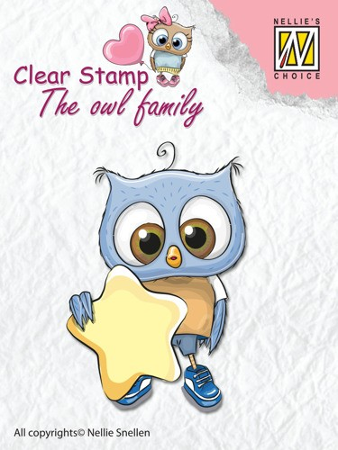 Clear stamp The Owl family: Star