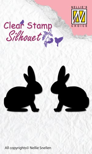 Clear stamp silhouet: Hare