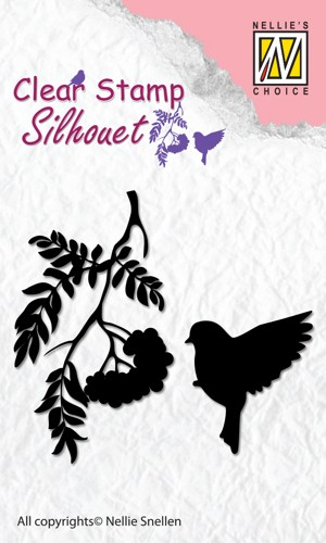 Clear stamp silhouet: Birdsong 3