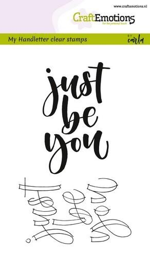 Stempel Handlettering: Just be you
