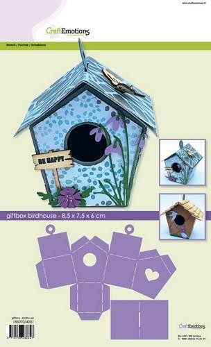 Craft Emotions Giftbox-Birdhouse