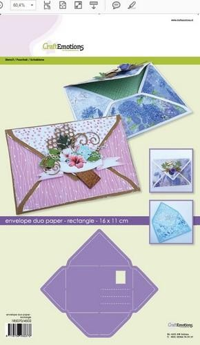 Craft Emotions Envelope Rectangle