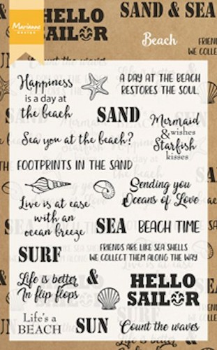 Clearstamp beach sentiments