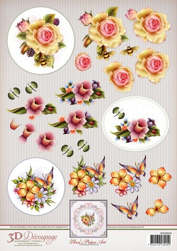 Ann`s Paper Art 3D Decoupage Sheet Spring Flowers