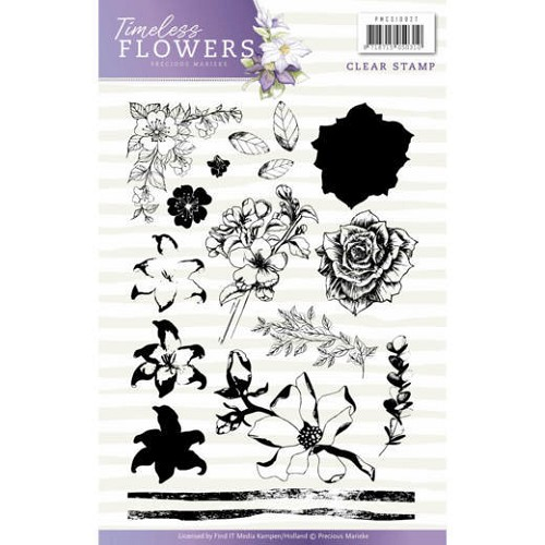 Timeless Flowers:Clearstamp Afbeeldingen