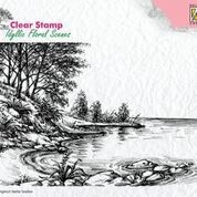 Clearstamp Idyllic floral scenes Waters edge