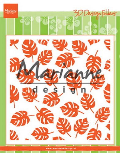 Design Folder 3D Tropical Leaves