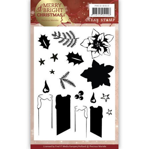 Merry & Bright christmas: Clearstamp kaarsen
