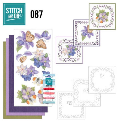 Stitch and do 87: Purple Flowers