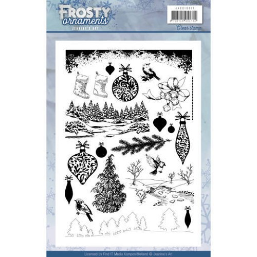 Frosty Ornaments: Clearstamp