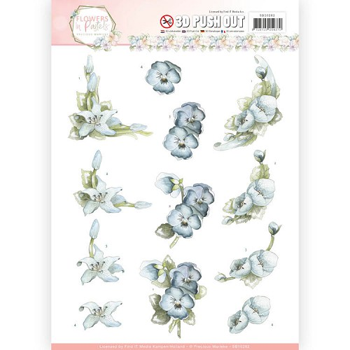 Flowers in Pastel: Push Out