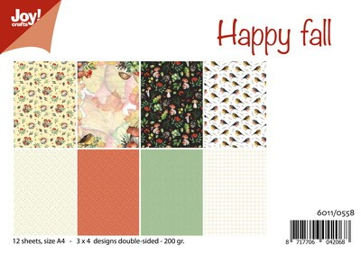 Joy Crafts: Papierset happy fall-mushroom autumn
