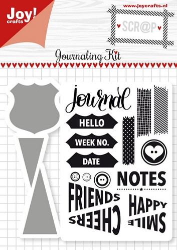 Joy Crafts: Stempel met mal journaling kit
